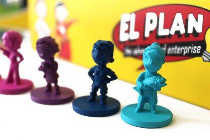juego de mesa El Plan bilingue - personajes2