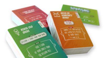 juego de cartas toppling - cartas